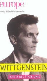 Revue Europe N.906 ; Ludwig Wittgenstein - Intérieur - Format classique