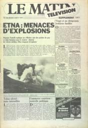 Matin Television (Le) N°763 du 09/08/1979 - Couverture - Format classique