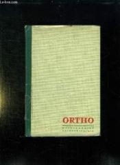 Ortho Vert. Dictionnaire Orthographique Et Grammatical. - Couverture - Format classique