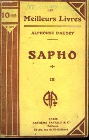 Sapho. Tome 3. Collection : Les Meilleurs Livres N° 100. - Couverture - Format classique