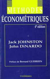 Vente livre :  Methodes Econometriques  - Jack Johnston - John Dinardo