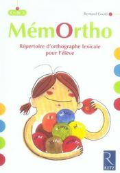 Mémortho ; fichier d'orthographe lexicable ; cycle 3 ; répertoire de l'élève - Intérieur - Format classique
