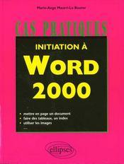 Initiation A Word 2000 - Intérieur - Format classique