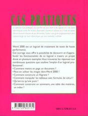 Initiation A Word 2000 - 4ème de couverture - Format classique
