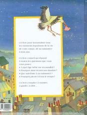 Le livre de bébé - 4ème de couverture - Format classique