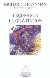 Lecons Sur La Gravitation - Intérieur - Format classique