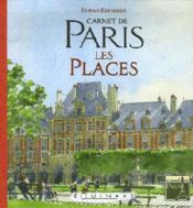 Carnet de paris : les places - Couverture - Format classique