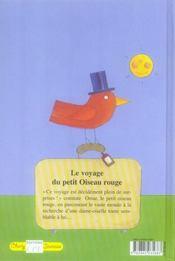 Le voyage du petit oiseau rouge - 4ème de couverture - Format classique