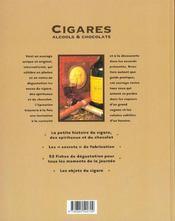 Cigares, Alcools & Chocolats - 4ème de couverture - Format classique