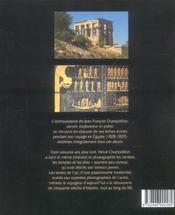 Egypte (L') Lettres Et Journaux Voyage - 4ème de couverture - Format classique