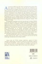 Naissance de la critique moderne la litterature selon eliot et valery - 4ème de couverture - Format classique