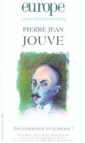 Europe Pierre Jean Jouve 907 908. Psychanalyste Et Ecrivain ? - Intérieur - Format classique