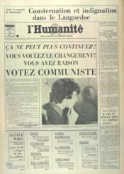 Humanite (L') N°9812 du 06/03/1976 - Couverture - Format classique