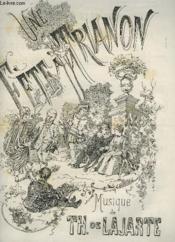 Journal Des Demoiselles 53° Annee 1885 : Une Fete A Trianon - Pour Piano. - Couverture - Format classique