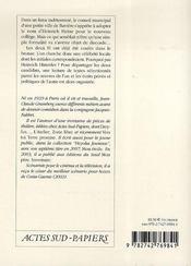 H. H. - 4ème de couverture - Format classique
