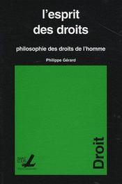 Esprit Des Droits Hilosophie Des Droits De L Homme - Intérieur - Format classique