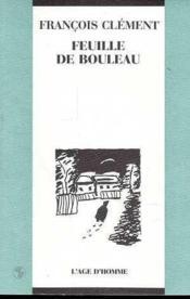 Feuille De Bouleau - Couverture - Format classique