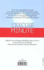 L'Excuse Minute - 4ème de couverture - Format classique