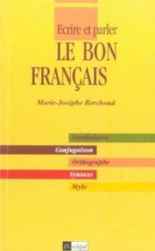 Le Bon Francais - Couverture - Format classique