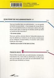 D Un Point De Vue Administratif - 4ème de couverture - Format classique