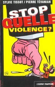Stop Quelle Violence ? - Intérieur - Format classique