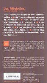 Les médecins - 4ème de couverture - Format classique