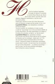 Posterite D'Hiram - 4ème de couverture - Format classique
