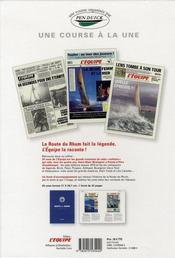 Route Du Rhum - 4ème de couverture - Format classique