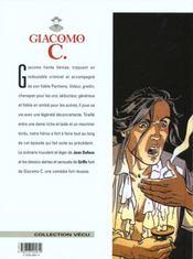 Giacomo C. t.8 ; la non-belle - 4ème de couverture - Format classique