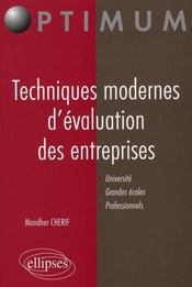 Techniques Modernes D'Evaluation Des Entreprises Universite Grandes Ecoles Professionnels - Intérieur - Format classique