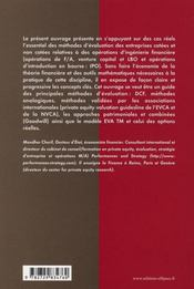 Techniques Modernes D'Evaluation Des Entreprises Universite Grandes Ecoles Professionnels - 4ème de couverture - Format classique