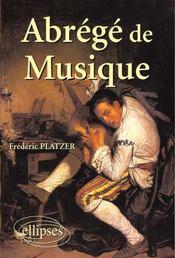 Abrege De Musique - Intérieur - Format classique