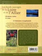 Les bords sauvages de la Loire et de l'Allier - 4ème de couverture - Format classique