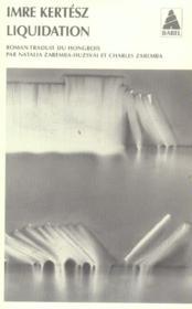 Liquidation Babel 707 - Couverture - Format classique