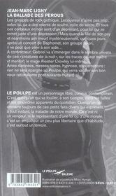 La ballade des perdus ; le poulpe - 4ème de couverture - Format classique