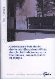 Optimisation de la duree de vie des refractaires utilises dans les fours de traitements thermiques e - Couverture - Format classique