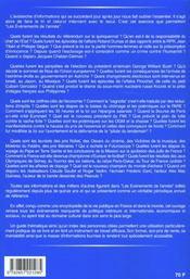 Revue Politique Et Parlementaire T.Hs; les évènements de l'année 2000 - 4ème de couverture - Format classique