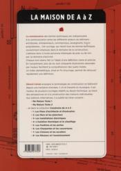 La maison de A à Z ; le vocabulaire de la construction - 4ème de couverture - Format classique