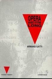 Opera Avec Titre Long - Couverture - Format classique