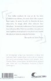 Esclaves Des Iles Francaises Et Autres Textes De Bernardin De Saint-Pierre - 4ème de couverture - Format classique