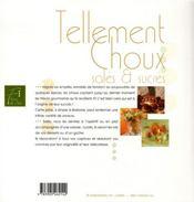 Tellement choux salés et sucrés - 4ème de couverture - Format classique