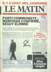 Matin De Paris (Le) N°1542 du 08/02/1982 - Couverture - Format classique