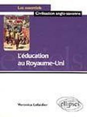 L'Education Au Royaume-Uni - Couverture - Format classique