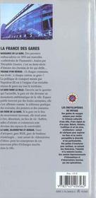 France Des Gares - 4ème de couverture - Format classique