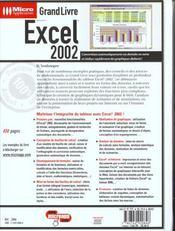 Grand Livre Excel 2002 - 4ème de couverture - Format classique