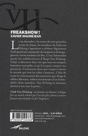 Freakshow ! - 4ème de couverture - Format classique