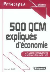 500 Qcm Expliques D'Economie - Intérieur - Format classique
