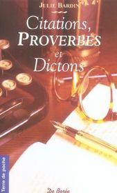 Citations Proverbes Et Dictons Poches - Intérieur - Format classique