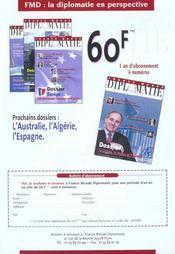 Revue Politique Et Parlementaire N.1012 ; Fin Des Souverainetés ? - 4ème de couverture - Format classique
