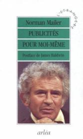 Publicites Pour Moi-Meme - Couverture - Format classique